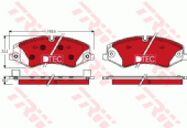 LR051626 TRW GDB1898DTE Low Dust Brake Pad Set of 4